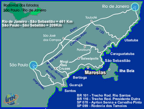 Mapa de Maresias
