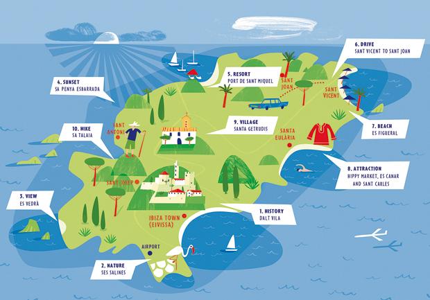 Onde fica Ibiza no mapa?