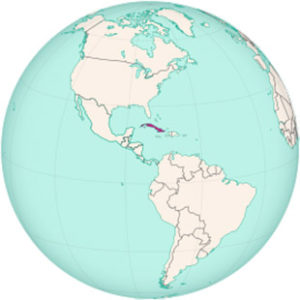 Onde fica Cuba no mapa mundi