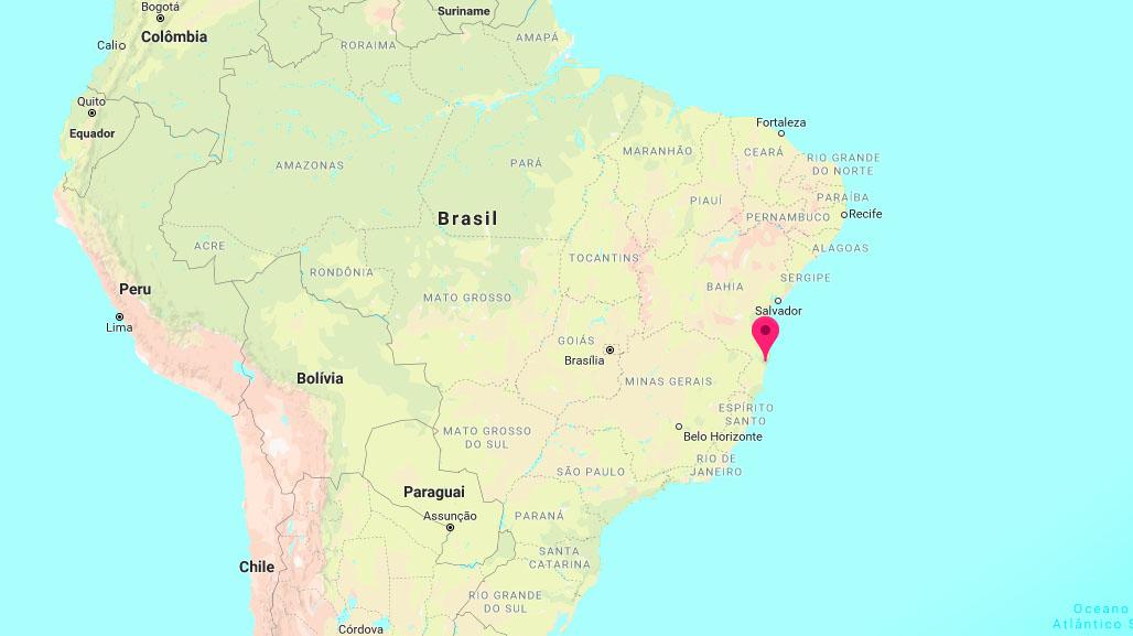 Onde fica Porto Seguro no mapa