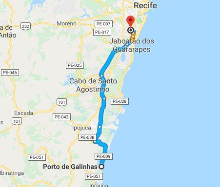 Onde fica o aeroporto de Porto de Galinhas